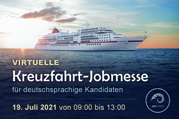 Virtuelle Kreuzfahrt-Jobmesse für deutschsprachige Kandidaten